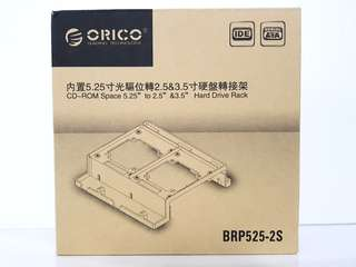 Orico CD-ROM Space 5.25 to 2.5 or 3.5 Hard Drive Rack