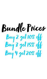 Bundle Prices!