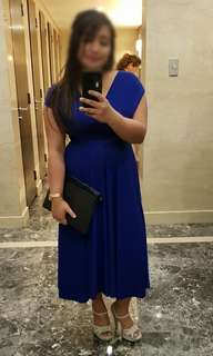 Royal blue infinity dress