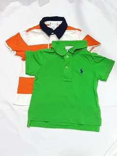 2pcs Polo Ralph Lauren Polo Tee 6-9months