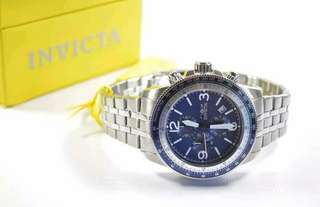 INVICTA 13961 SPECIALTY CHRONOGRAPH BLUE DIAL STAINLESS STEEL WATCH