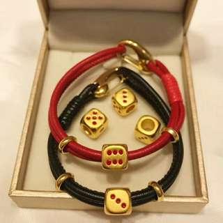 pure gold 黃金999骰子手鏈