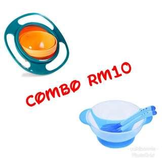 Gyro bowl feeding set combo