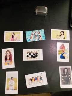 Twice成員自拍小卡