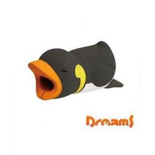 Dreams放假海生館iPhone專用咬線器-國王企鵝