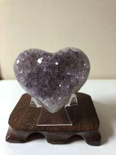 烏拉圭薰衣草紫水晶愛心