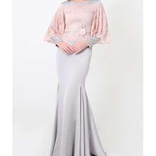 JOVIAN sharon dusty pink baju kurung