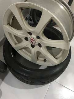 One piece of Civic Type R FD2R rim and tyre