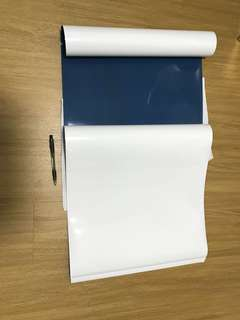 Magnetic sticky whiteboard