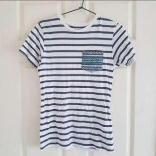 Roger David - Striped Pocket Tshirt