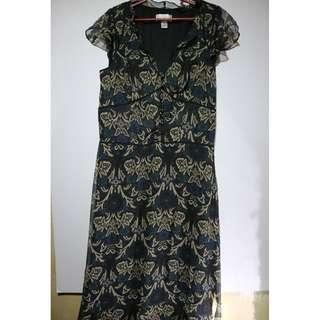 Black Floral Sleeveless Cotton Maxi Dress #8