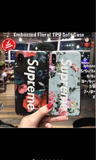 3D Floral Supreme Casing For Iphone