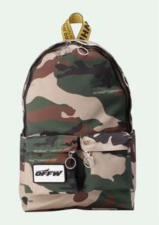 Off White 18fw Camouflage Backpack