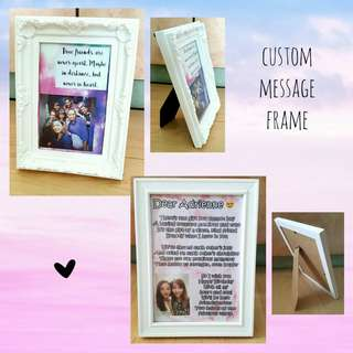 Customized Message Frame Small
