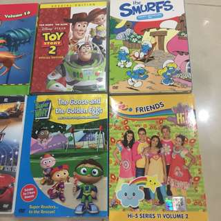 Kids DVDs for sale! All for $15 only