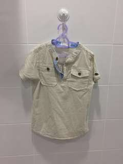 Olive Plants shirt for boy (130)