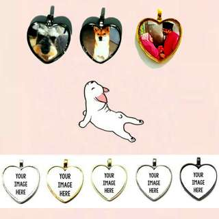 Customized Heart Charms
