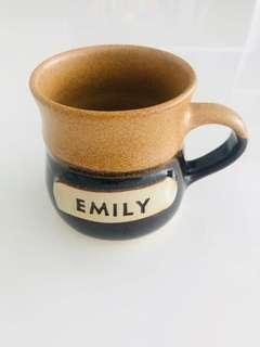 """Personalised """"Emily"""" Handmade Pottery Mug"""
