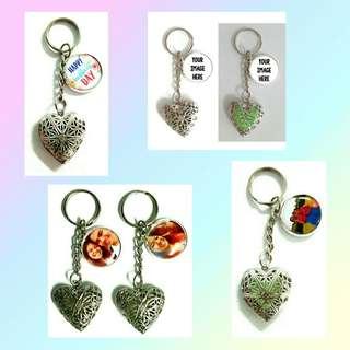 Customized glow in the dark heart keychains