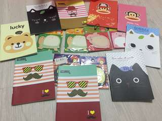 Assorted notepads and notebooks