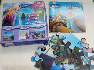 Frozen Story book & 2 in 1 Jigsaw Puzzle
