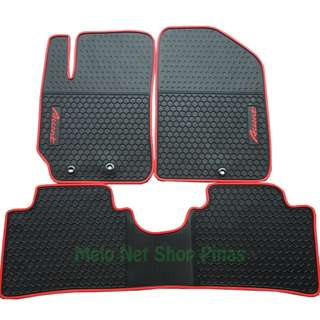 Premium Rubber Floor Matting Red Lining for Hyundai Accent
