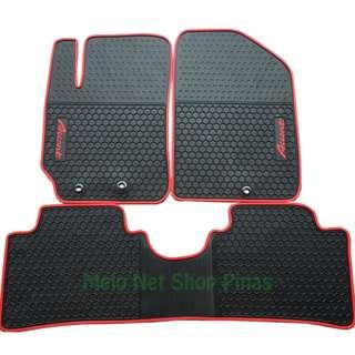Premium Rubber Floor Matting Red Lining for Hyundai Accent
