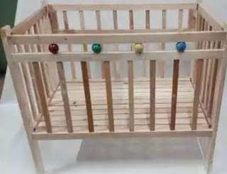 Foldable Wooden Crib