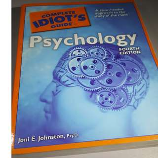 BOOK - THE COMPLETE IDIOT'S GUIDE TO PSYCHOLOGY by  JONI E. JOHNSTON