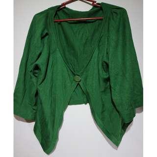 Green Velveteen Mini Cloak #12