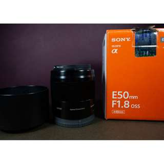 Sony E 50mm f/1.8 OSS Lens (Black) SEL50F18