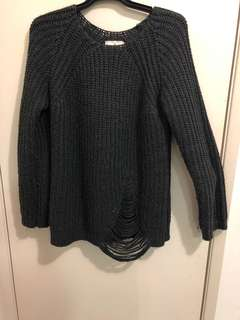 JORGE Charcoal Oversized Jumper Size 12