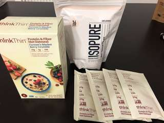 Protein  Isopure Think Thin Oat Cereal