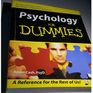 BOOK - PSYCHOLOGY FOR DUMMIES by ADAM CASH