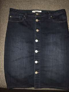 JEANSWEST Denim Skirt Size 12