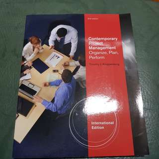 Contemporary Project Management by Timothy J Kloppenborg