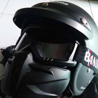 Helm Cargloss with Google Mask size XL fit to M-L