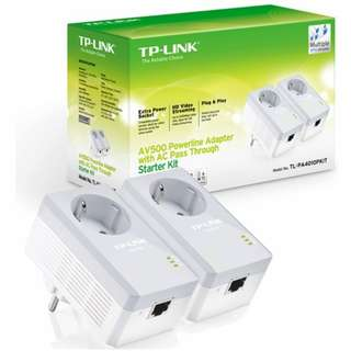 TP-LINK PA4010PKIT : TPlink AV500 Powerline Adapter with AC Pass