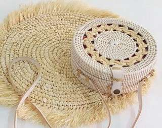 SUPPLIER - Rattan Bag White Pattern - INSTOCKS