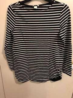 H n M Stripe Top Size M