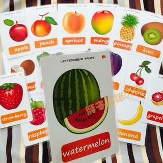 🌼 🌈FRUITS🌈FLASH CARDS(18PCS)