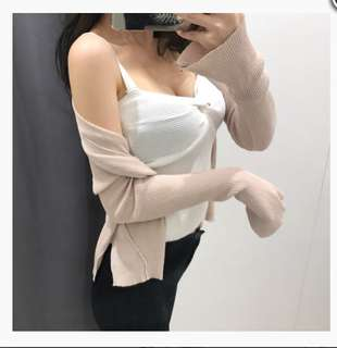 🆕 White deep v sexy top