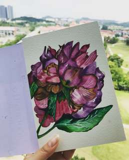 Flower watercolour