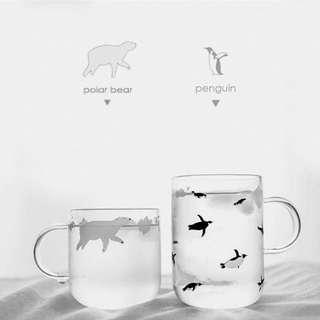 🚚 現貨‼️。南北極沁涼手工玻璃杯。