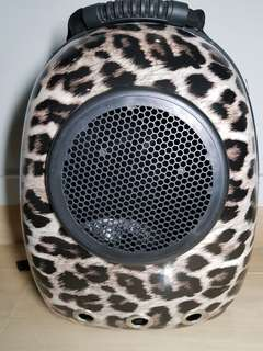 Leopard Print Cat Backpack
