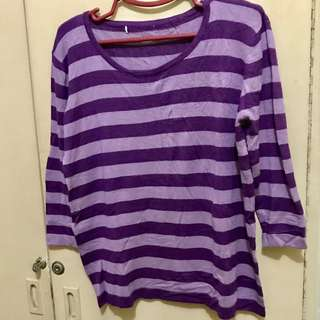 Purple Stripe Knitted Top