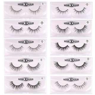 🦋1 pair 3D Mink Eyelashes Natural Handmade False Eyelashes🦋