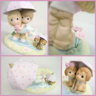 Precious Moments Figurine                                                                           🍒Showered With Love & Thot-fulness🍒                                     💖Signed Limited Edition of 2000pcs💖                            💟 Big Piece💟