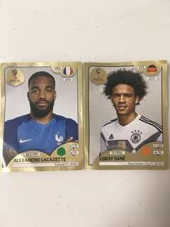 Fifa Russia 2018 gold edition stickers