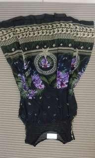 🚚 Free size) 拼紗時尚花朵雪紡擺裙洋裝 flora dress